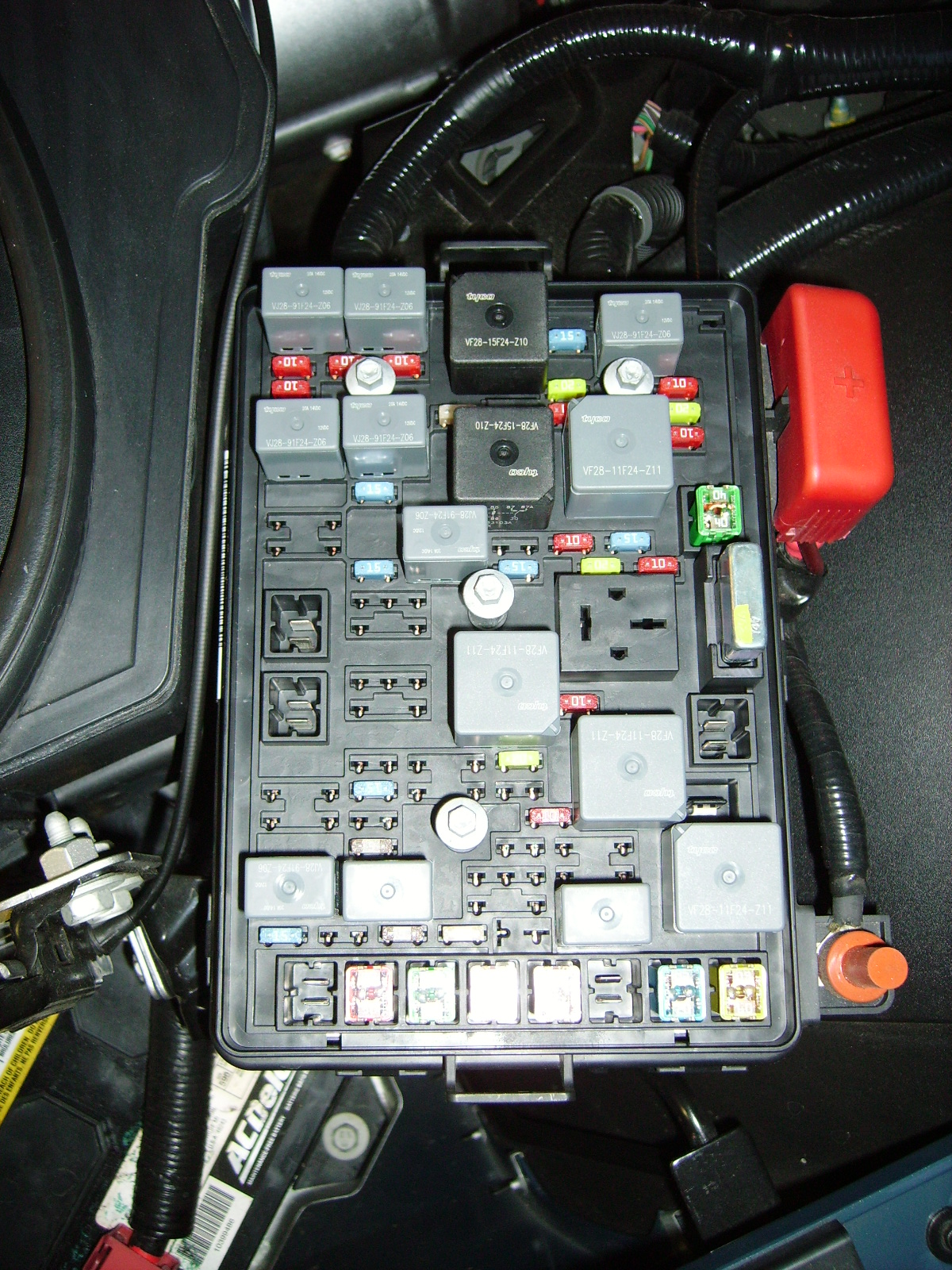 D Intermittant Service Air Bag Message Electrical Problem Fuse Box Under Hood
