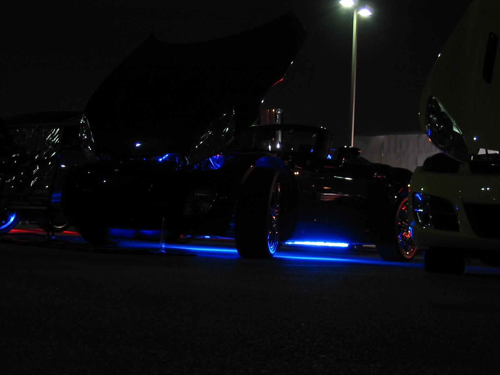 Under neon lights