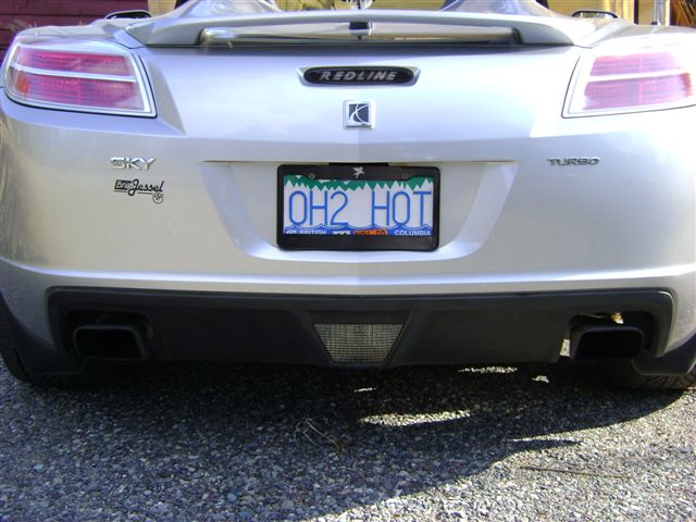 License Plate Frame - Saturn Sky Forums: Saturn Sky Forum