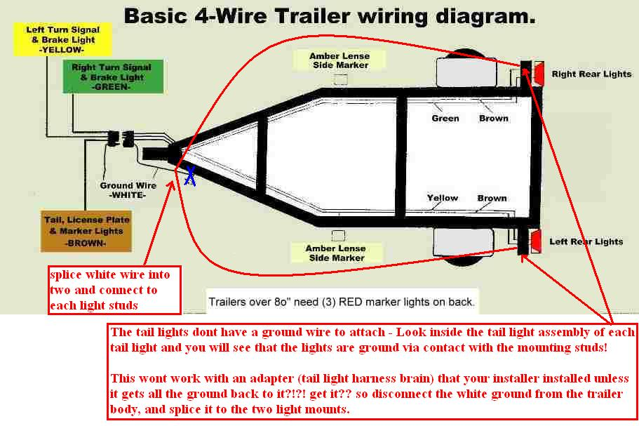 37098d1269719788 electrical problem after installing trailer hitch help trailerwiringdiagram_4_wire electrical problem after installing a trailer hitch help how to wire trailer lights 4 way diagram at n-0.co